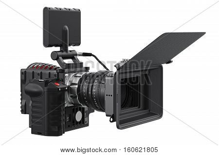 Camera video optical videography device. 3D rendering