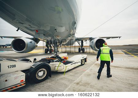 Pushback Of The Aircraft