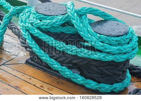 bollard of a boat on a sailing-vessel