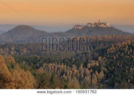 The Wartburg Castle near Eisenach in Germany
