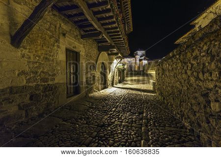 Santillana Del Mar. Santander. Cantabria. Spain. .                                     She is known popularly by the nickname of villa of three lies, since it neither is holy, not trowel, does not even have sea.