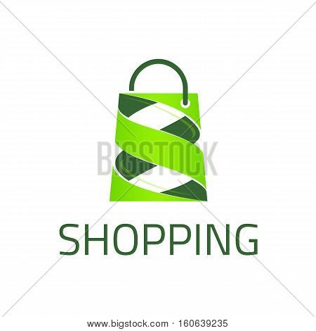 Template logo for the shopping center. Fashion logo.