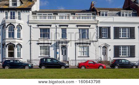 EXMOUTH UK 21 October 2016: Byron Court on Beacon Street. Exmouth. Devon. England