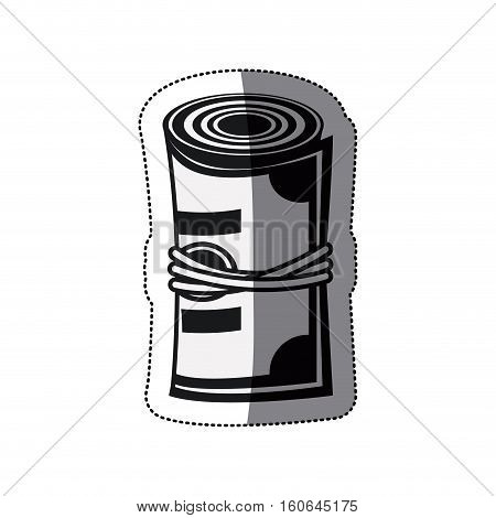 Bills icon. Money financial item commerce market and buy theme. Isolated design. Vector illustration