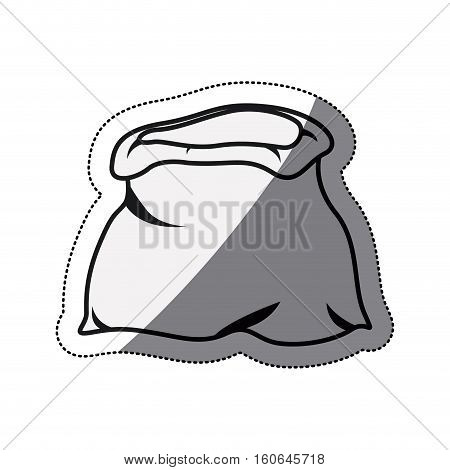Money bag icon. financial item commerce market and buy theme. Isolated design. Vector illustration