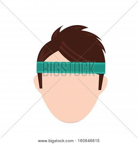 Man with sport headband icon vector illustration graphic design