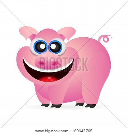 Pig illustration. Pig illustration funny. Pig cartoon