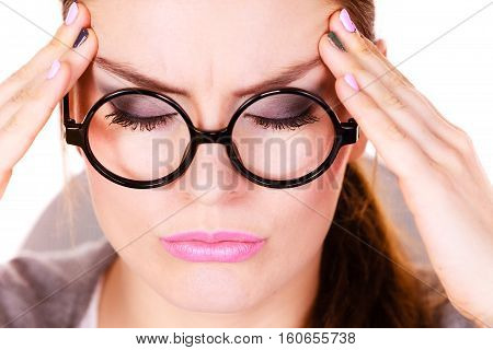 Woman Suffering From Headache Migraine Pain