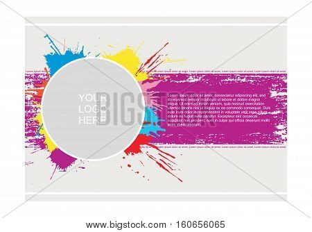 Abstract vector template design, flayers, brochure, web sites, page, leaflet, with colorful watercolor paint splash