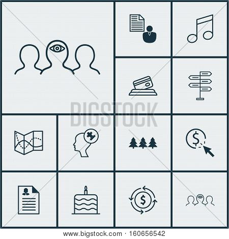 Set Of 12 Universal Editable Icons. Can Be Used For Web, Mobile And App Design. Includes Icons Such As Money Recycle, Credit Card, Opportunity And More.