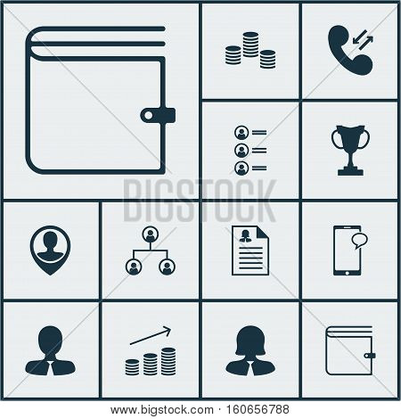 Set Of Hr Icons On Manager, Female Application And Wallet Topics. Editable Vector Illustration. Includes Pin, Prize, List And More Vector Icons.