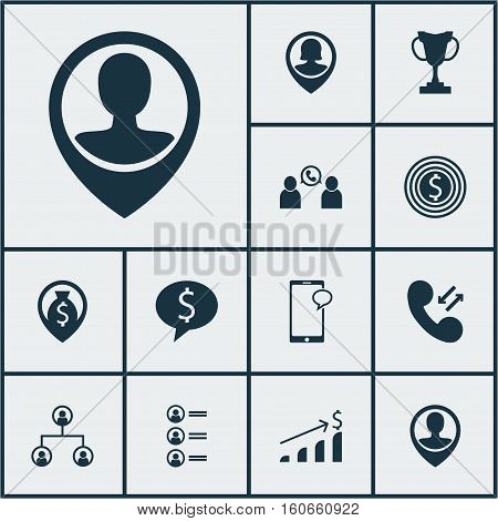 Set Of Human Resources Icons On Job Applicants, Tree Structure And Pin Employee Topics. Editable Vector Illustration. Includes Opinion, Prize, Goal And More Vector Icons.