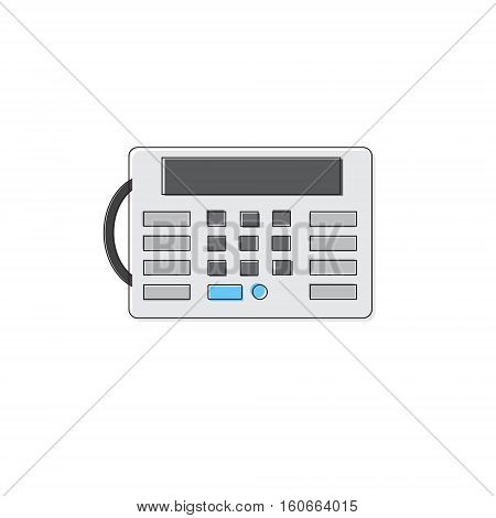House Security Alarm Protection Control Panel Thin Line Vector Illustration
