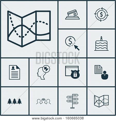 Set Of 12 Universal Editable Icons. Can Be Used For Web, Mobile And App Design. Includes Icons Such As Credit Card, Opportunity, Female Application And More.