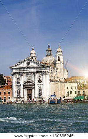 Church Santa Maria del Rosario in Italy Venice.