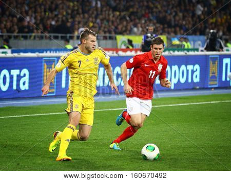 Fifa World Cup 2014 Qualifier Game Ukraine V England