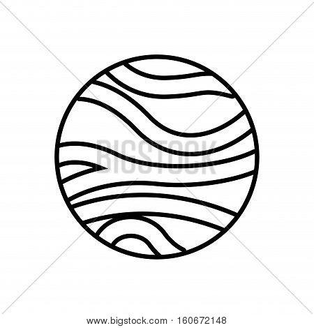 venus planet isolated icon vector illustration design