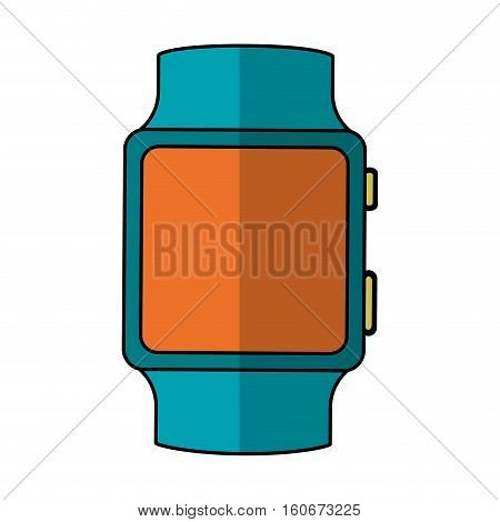 smart watch icon over white background. wearable technology devices concept. colorful design.  vector illustration