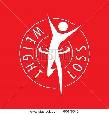 logo running man for weight loss. Vector illustration of icon