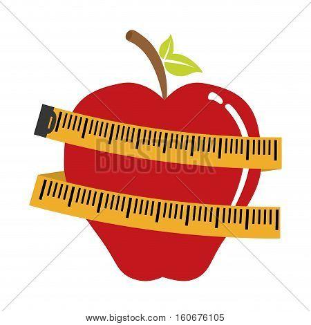 measuring tape diet icon image vector illustration design