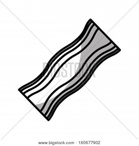 bacon slice isolated icon vector illustration design