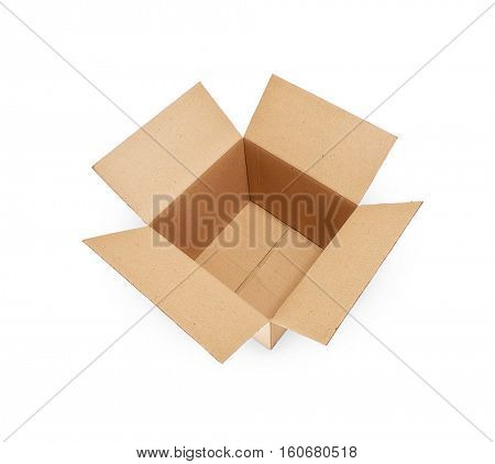 Cardboard box isolated on white -Clipping Path