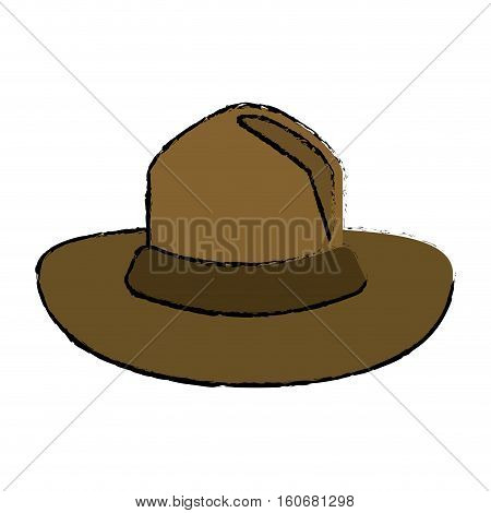 colored canadian hat mounted policeman design vector illustration eps10
