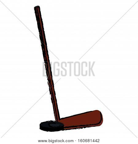 hockey game stick sketch vector illustration eps 10