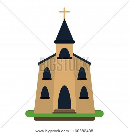 church building religious christian vector illustration eps 10