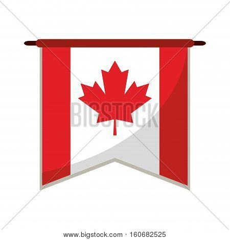flag pennant canadian red and white vector illustration eps 10