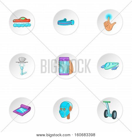 Device of future icons set. Cartoon illustration of 9 device of future vector icons for web