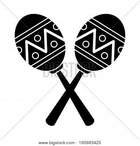 pictogram maracas music instrument brasilian vector illustration eps 10