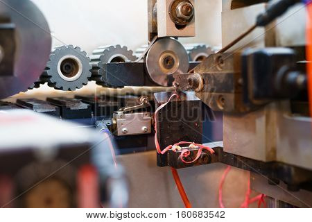 Edging PVC. Image of cutter machine, close-up