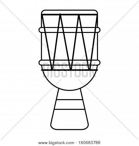 brasilian drum percussion bongo outline vector illustration eps 10