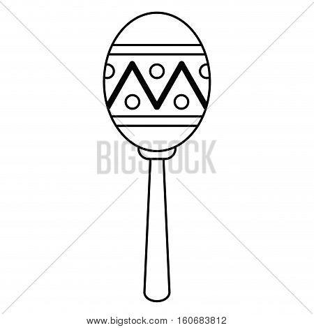 maracas music instrument brasilian outline vector illustration eps 10
