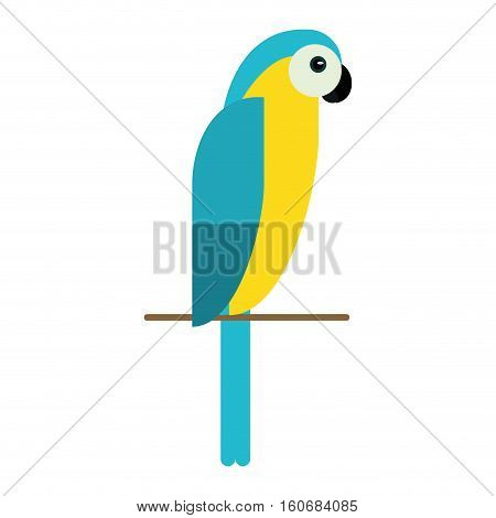blue and yellow macaw parrot brazil vector illustration eps 10