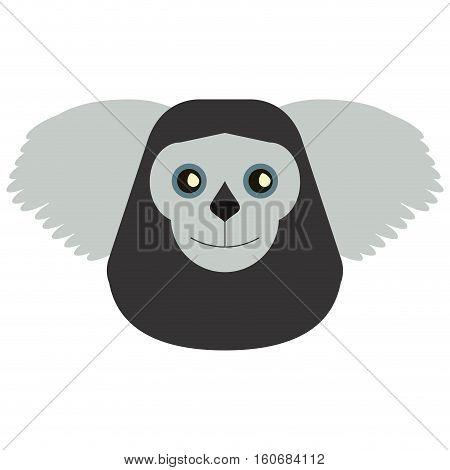 black bearded saki animal brazil vector illustration eps 10