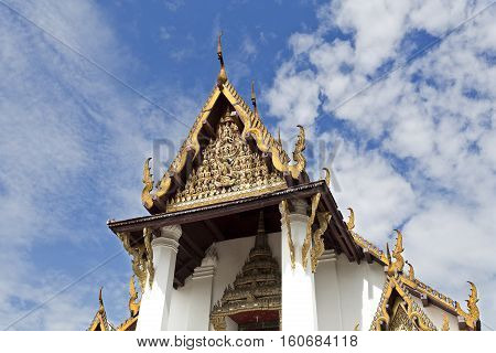 Wat Na Phra Men monastery famous for its gold Buddha and roof carvings from the 13th century.