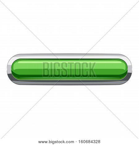 Light green rectangular button icon. Cartoon illustration of rectangular button vector icon for web design