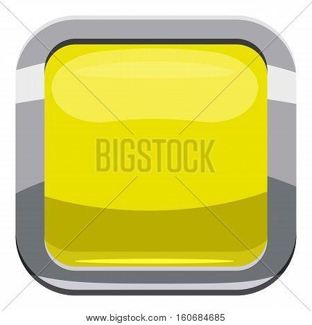 Citron square button icon. Cartoon illustration of square button vector icon for web design