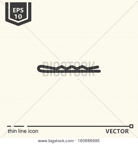 Hairdressing Tools. Icons Series. Hairpin.