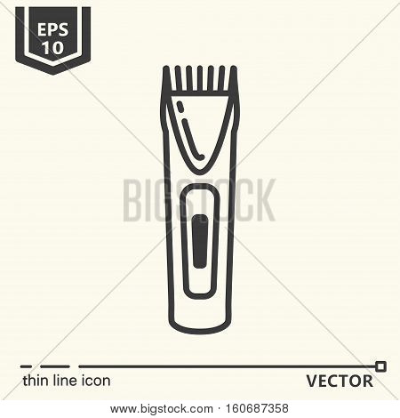 Hairdressing Tools. Icons Series. Trimmer.