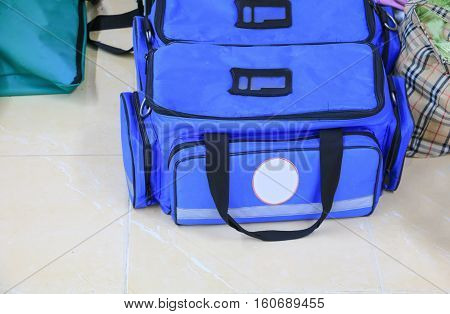 First aid kit with Bag and medicine assist patient in emergency rescue situation