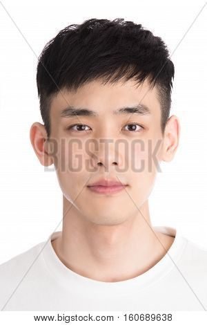 30s asian male youth studio portrait - isolated