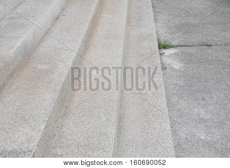 Stairs old stone terrazzo, marble floor outdoors building