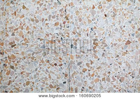 terrazzo floor texture polished stone pattern wall and beautiful color surface marble for background image horizontal