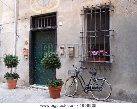 Black Bike In Italy