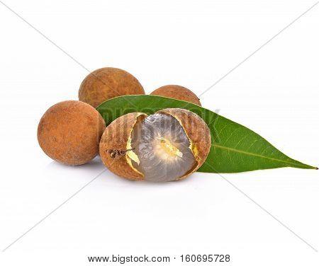 Longan fruit fresh isolated on white background