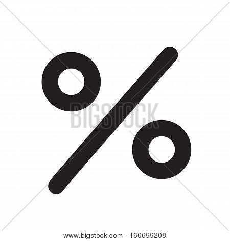 percent icon on white background. percent sign.