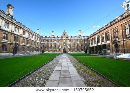 Cambridge University, court yard , January 2 ,2015